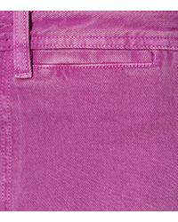 MiH Jeans Purple High-Rise Jeans Caron mit weitem Bein