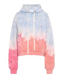 Re/done Pink Tie-dye Cotton Hoodie