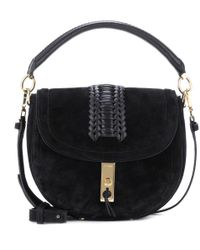 Altuzarra Black Ghianda Saddle Suede Shoulder Bag