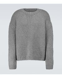 The Row Gray Darone Cashmere Crewneck Sweater for men