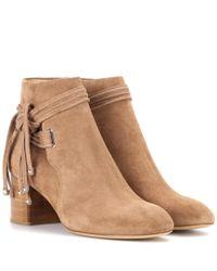 Rag & Bone Brown Ankle Boots aus Veloursleder