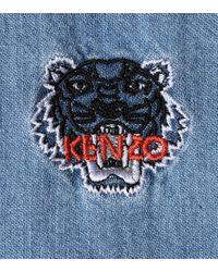 KENZO Blue Langärmliges Minikleid aus Denim
