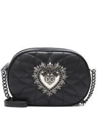 Borsa a tracolla Devotion in pelle di Dolce & Gabbana in Black