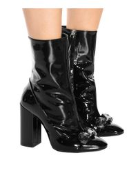 N°21 - Black Tino 100 Patent Leather Ankle Boots - Lyst