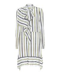 See By Chloé Blue Gestreiftes Kleid aus Seide