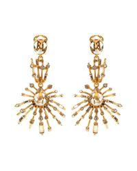 Oscar de la Renta - Metallic Crystal-embellished Earrings - Lyst