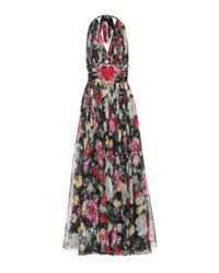 Dolce & Gabbana Multicolor Floral-printed Silk Maxi Dress
