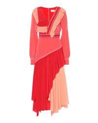 Robe longue en soie Peter Pilotto en coloris Red
