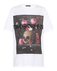 T-shirt en coton imprimé Still Life Alexander McQueen en coloris White