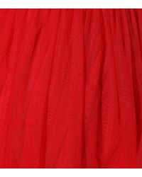 Staud Red Maxikleid aus Tüll