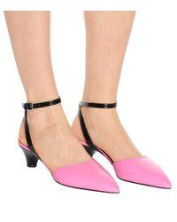 Marni Pink Kittenheel-Pumps aus Leder