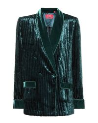 F.R.S For Restless Sleepers Multicolor Ate Velvet Corduroy Pajama Jacket