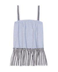 Amara cotton-blend printed camisole Lemlem de color Blue
