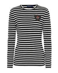 Polo Ralph Lauren - Black Crest Striped T-shirt - Lyst