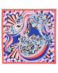 Sarong de algodón estampado Emilio Pucci de color Blue