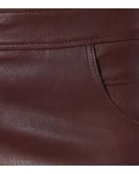 Brunello Cucinelli Purple Leather Skinny Pants