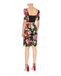 Dolce & Gabbana Multicolor Floral-printed Silk Shorts