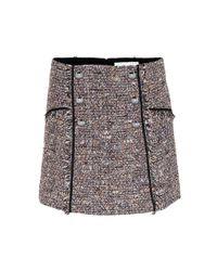 Veronica Beard Brown Starck Tweed Miniskirt
