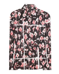 Marc Jacobs - Pink Printed Silk Blouse - Lyst