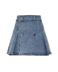 Mini-jupe en jean Matthew Adams Dolan en coloris Blue