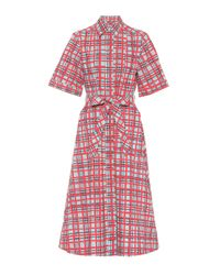 Burberry Multicolor Kariertes Hemdblusenkleid aus Baumwolle