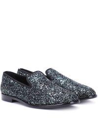 Jimmy Choo Metallic Marlo Glitter Loafers