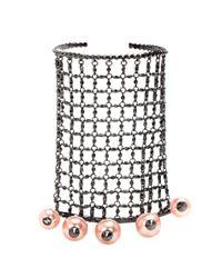 Bracelet et bague intégrée en métal à ornements Gucci en coloris Metallic