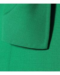 Oscar de la Renta Green Minikleid mit Wolle