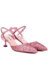 Miu Miu Pink Pumps mit Glitter