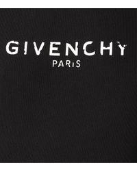 Givenchy Black Bedruckter Hoodie aus Baumwolle