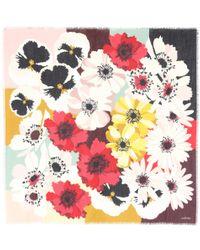 Valentino Multicolor Bedrucktes Tuch mit Kaschmiranteil