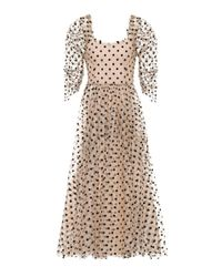 Isa Arfen Multicolor Ethereal Polka-dotted Tulle Dress