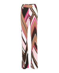 Emilio Pucci - Multicolor Printed Wide-legged Trousers - Lyst
