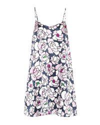 Olivia Von Halle - Blue Mila Printed Silk Nightgown - Lyst