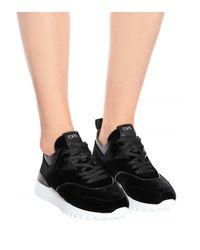 Tod's Black Exklusiv bei Mytheresa – Sneakers aus Samt