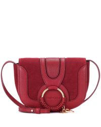 See By Chloé Red Hana Mini Leather Shoulder Bag