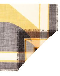 Pañuelo de lana estampado Loewe de color Yellow