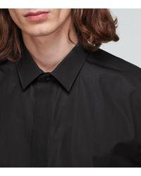 Saint Laurent Hemd aus Baumwollpopeline in Black für Herren
