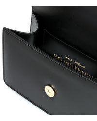 """Dolce & Gabbana Black Gürteltasche Aus Leder """"dg Millennials"""""""