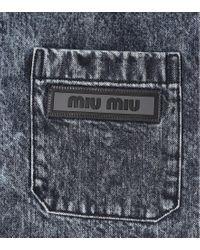 Camicia di jeans di Miu Miu in Blue