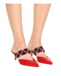 Malone Souliers Red Mules Maisie 18 aus Leder