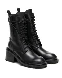 Ann Demeulemeester Black Ankle Boots aus Leder