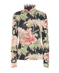 Zimmermann Black Espionage Floral Top