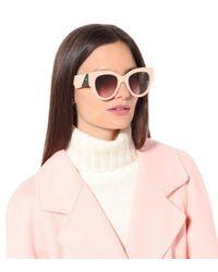 Exclusivo en mytheresa – gafas de sol oversize redondeadas Fendi de color Pink