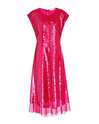 Stella McCartney - Pink Sequinned Silk Dress - Lyst