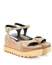 Sandalias con plataforma Elyse Stella McCartney de color Brown