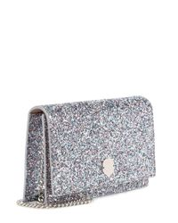 Jimmy Choo Metallic Florence Glitter Clutch