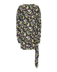 Miniabito Torrance in seta e lana di Magda Butrym in Black