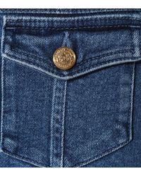 Balmain - Blue High-Rise Skinny Jeans - Lyst