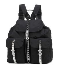 Prada Black Verzierter Rucksack